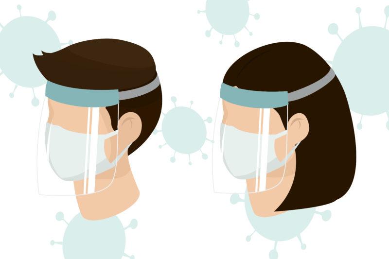 mascara facial coronavirus