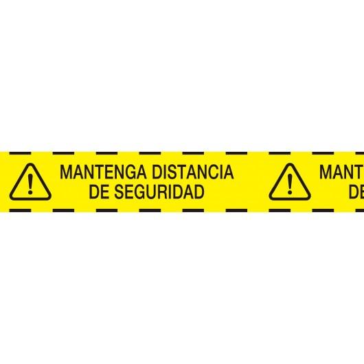 cinta señalizacion distancia de seguridad