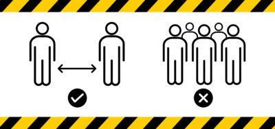 señalizacion pvc mantenga distancia de seguridad